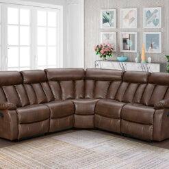 Janus Tan Leathaire Corner Sofa