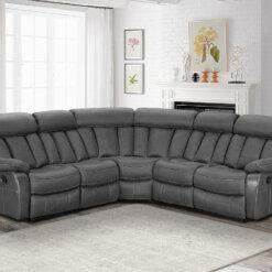Janus Two Tone Slate Corner Sofa