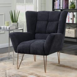 Lacy Dark Grey Armchair