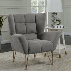Lacy Light Grey Armchair