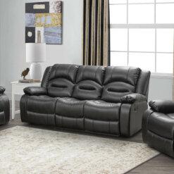 Novella Black 3 Seater Sofa