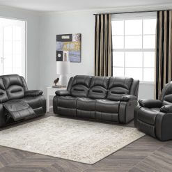 Novella Black Sofa Suite