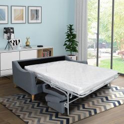 Robyn Blue 3 Seater Sofa Bed