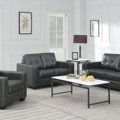 Rose Black Sofa Suite