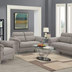 Roxy Light Grey Sofa Suite