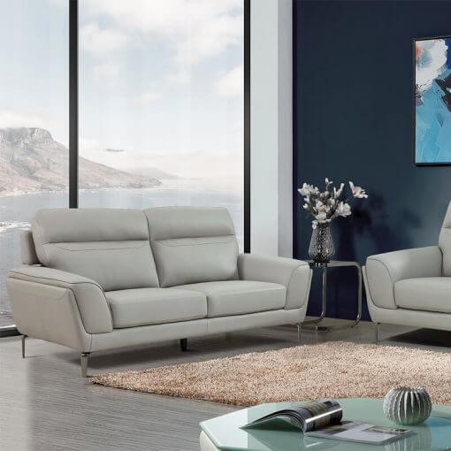 Vitalia Leather Sofa Suite