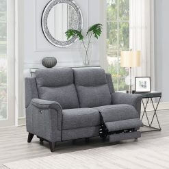 Yara 2 Seater Sofa Grey Fabric