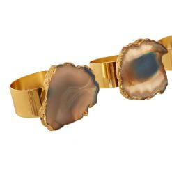 Agata Blue Napkin Rings