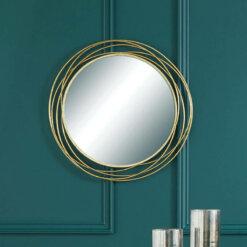 Antique Metal Round Wall Mirror