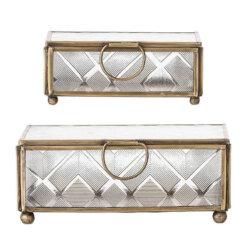 Gold Glass Jewellery Box