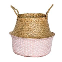 Rose Seagrass Basket