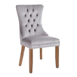 Kacey Dining Chair Grey Velvet