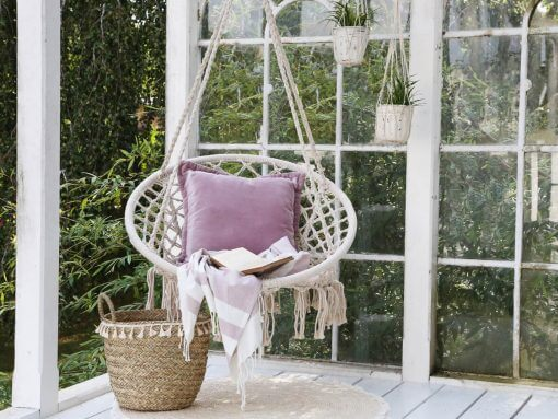 Antique White Swinging Chair