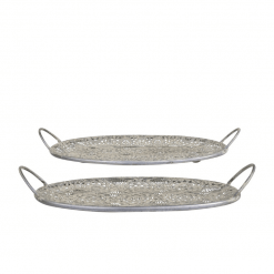 Zinc Set of 2 Trays