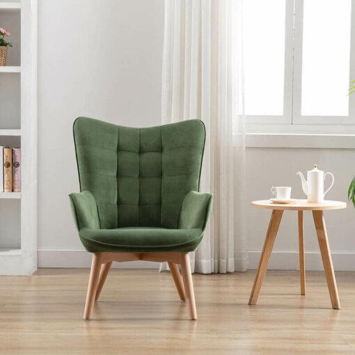 Kayla Viola Green Fabric Chair