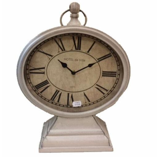 Oval Mantel Clock Hotel de Ville