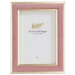Large Pink Velvet & Gold Frame
