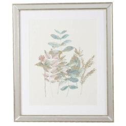 Wild Flower & Gold Leaf Frame