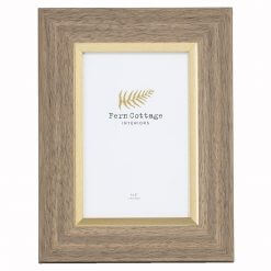Wood with Gold Inlay Frame