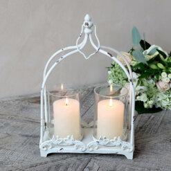 Antique Double Candle Lantern