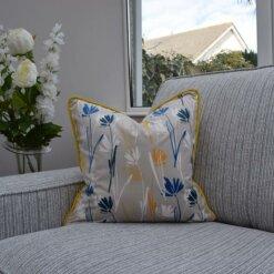Mustard Floral Cushion