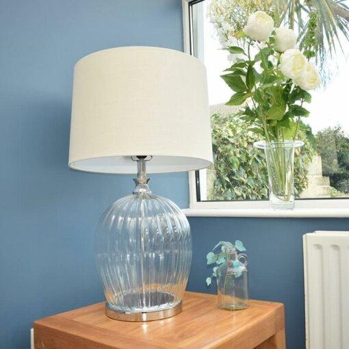 Clear Glass Oatmeal Lamp
