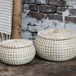 Basket with Lid White