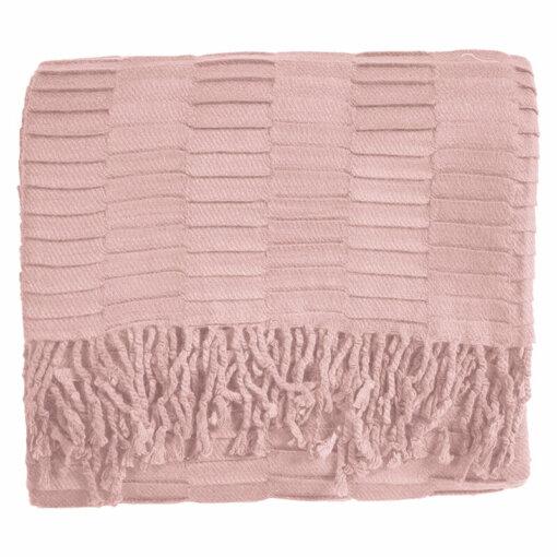 Linear Pleat Throw Blush
