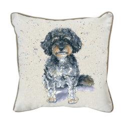 Cavapoo Watercolour Cushion