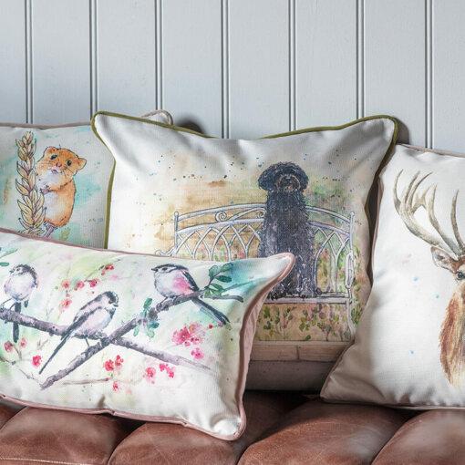 Labradoodle Watercolour Cushion