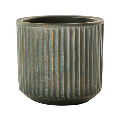 Linear Pot Gold/Green Medium