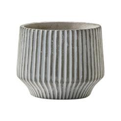 Stripe Pot Whitewash Large
