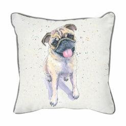 Pug Watercolour Cushion