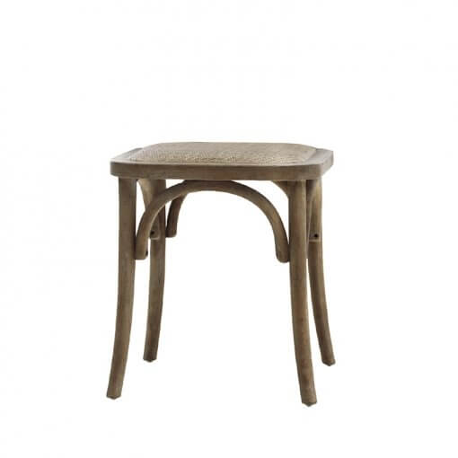 French Stool With Wicker Seat