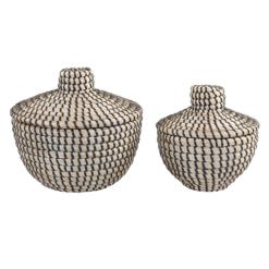 Basket with Lid Black