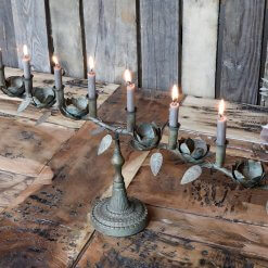 Old French Candlestick and Holder