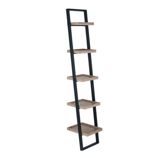 5 Tier Metal & Wood Shelf Unit
