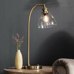 Hansen Table Lamp Antique Brass