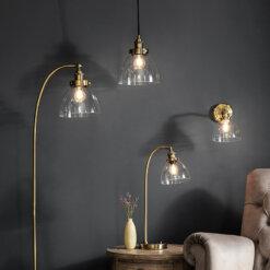 Hansen Floor Lamp Antique Brass