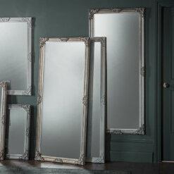 Fiennes Leaner Mirror Antique White