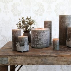 Macon Rustic Pillar Candle Olive