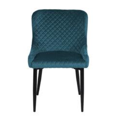 Talia Blue Velvet Chair