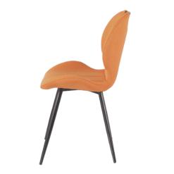 Toby Orange Fabric Chair