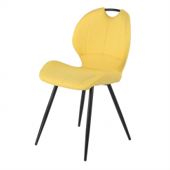Toby Yellow Fabric Chair
