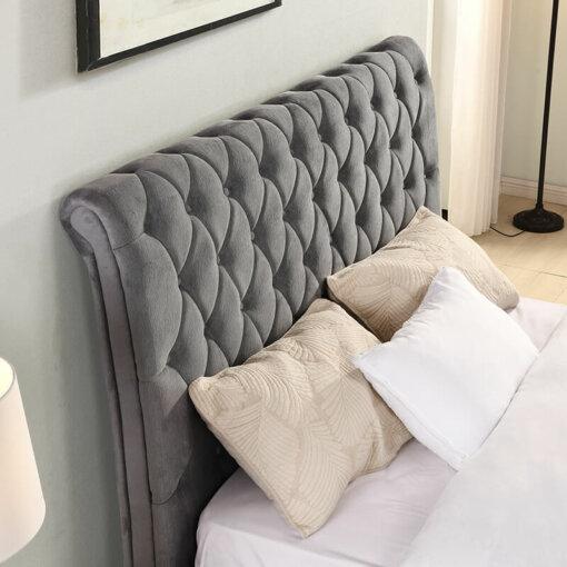 Kilkenny Grey Fabric Bed Frame