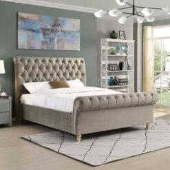 Kilkenny Mink Fabric Bed Frame