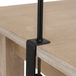 Black Metal Adjustable Table Clamp